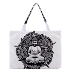 Ornate Buddha Medium Tote Bag by Valentinaart