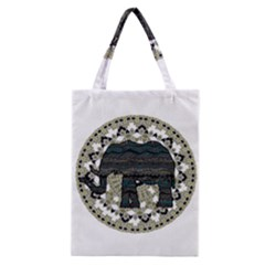 Ornate Mandala Elephant  Classic Tote Bag by Valentinaart