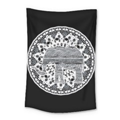 Ornate Mandala Elephant  Small Tapestry