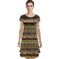 Aztec Pattern Cap Sleeve Nightdress by BangZart