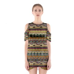 Aztec Pattern Shoulder Cutout One Piece by BangZart