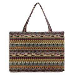 Aztec Pattern Medium Zipper Tote Bag by BangZart
