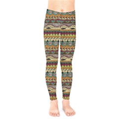 Aztec Pattern Kids  Leggings  by BangZart