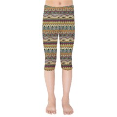 Aztec Pattern Kids  Capri Leggings  by BangZart