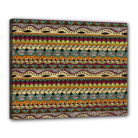 Aztec Pattern Canvas 20  X 16  by BangZart