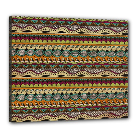 Aztec Pattern Canvas 24  X 20  by BangZart