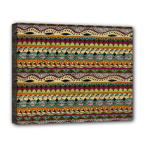 Aztec Pattern Deluxe Canvas 20  X 16   by BangZart