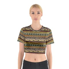 Aztec Pattern Cotton Crop Top