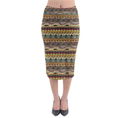 Aztec Pattern Midi Pencil Skirt by BangZart