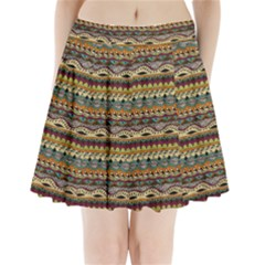 Aztec Pattern Pleated Mini Skirt by BangZart