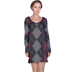 Wool Texture With Great Pattern Long Sleeve Nightdress by BangZart