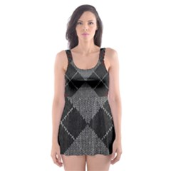 Wool Texture With Great Pattern Skater Dress Swimsuit by BangZart
