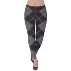Wool Texture With Great Pattern Velvet Leggings by BangZart