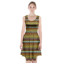 Bohemian Fabric Pattern Racerback Midi Dress by BangZart