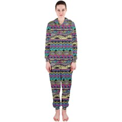 Aztec Pattern Cool Colors Hooded Jumpsuit (ladies)  by BangZart
