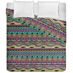 Aztec Pattern Cool Colors Duvet Cover Double Side (california King Size) by BangZart