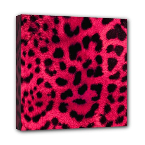 Leopard Skin Mini Canvas 8  X 8  by BangZart