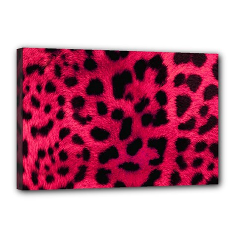 Leopard Skin Canvas 18  X 12  by BangZart