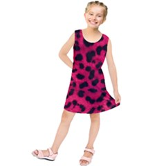 Leopard Skin Kids  Tunic Dress by BangZart