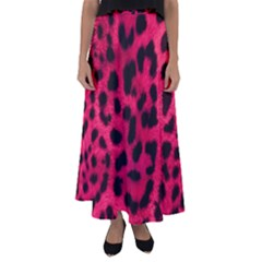 Leopard Skin Flared Maxi Skirt by BangZart