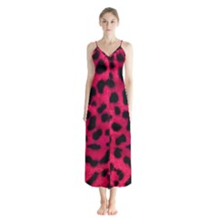 Leopard Skin Button Up Chiffon Maxi Dress by BangZart