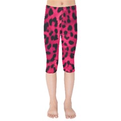 Leopard Skin Kids  Capri Leggings  by BangZart