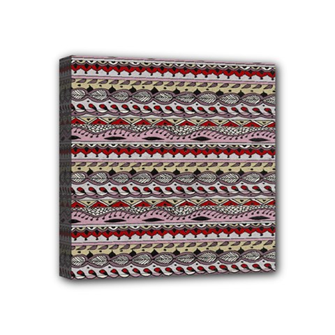 Aztec Pattern Patterns Mini Canvas 4  X 4  by BangZart