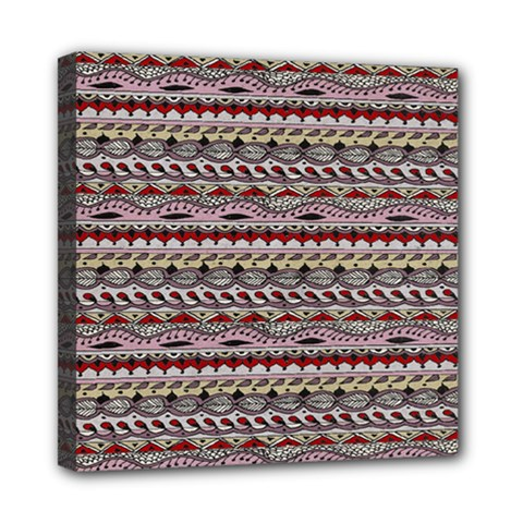 Aztec Pattern Patterns Mini Canvas 8  X 8  by BangZart