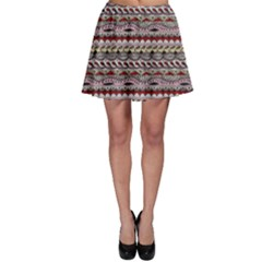 Aztec Pattern Patterns Skater Skirt by BangZart