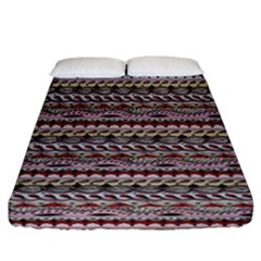 Aztec Pattern Patterns Fitted Sheet (california King Size) by BangZart