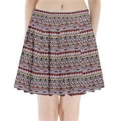 Aztec Pattern Patterns Pleated Mini Skirt by BangZart
