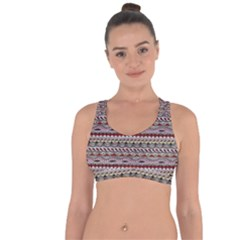 Aztec Pattern Patterns Cross String Back Sports Bra by BangZart