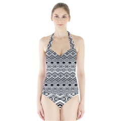 Aztec Design  Pattern Halter Swimsuit by BangZart