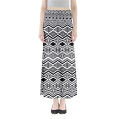 Aztec Design  Pattern Full Length Maxi Skirt by BangZart