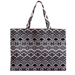 Aztec Design  Pattern Medium Zipper Tote Bag by BangZart