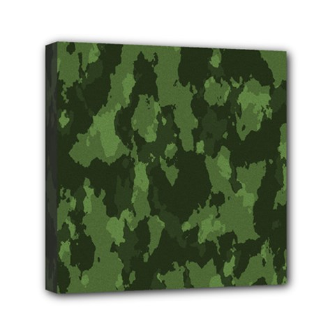 Camouflage Green Army Texture Mini Canvas 6  X 6  by BangZart