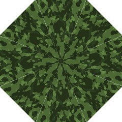 Camouflage Green Army Texture Straight Umbrellas by BangZart