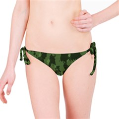 Camouflage Green Army Texture Bikini Bottom by BangZart