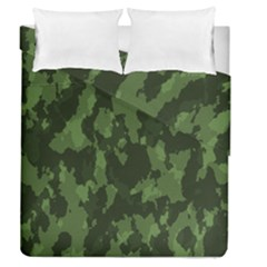 Camouflage Green Army Texture Duvet Cover Double Side (queen Size) by BangZart