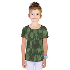 Camouflage Green Army Texture Kids  One Piece Tee by BangZart