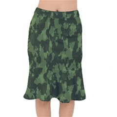 Camouflage Green Army Texture Mermaid Skirt by BangZart