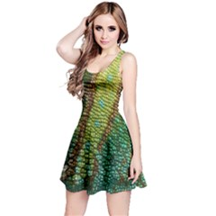 Chameleon Skin Texture Reversible Sleeveless Dress by BangZart