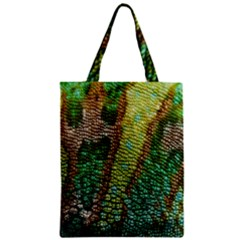 Chameleon Skin Texture Zipper Classic Tote Bag by BangZart