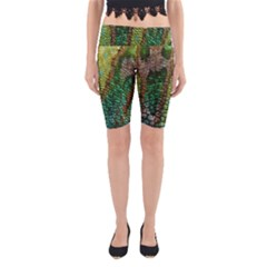 Chameleon Skin Texture Yoga Cropped Leggings by BangZart