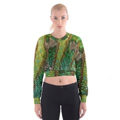 Chameleon Skin Texture Cropped Sweatshirt by BangZart