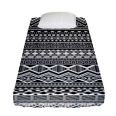 Aztec Pattern Design Fitted Sheet (single Size) by BangZart