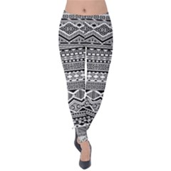 Aztec Pattern Design Velvet Leggings