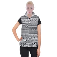 Aztec Pattern Design Women s Button Up Puffer Vest
