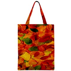 Leaves Texture Zipper Classic Tote Bag by BangZart