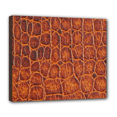 Crocodile Skin Texture Deluxe Canvas 24  X 20   by BangZart